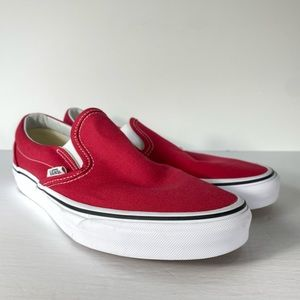 Vans Classic Slip-On Crimson Red Sneakers